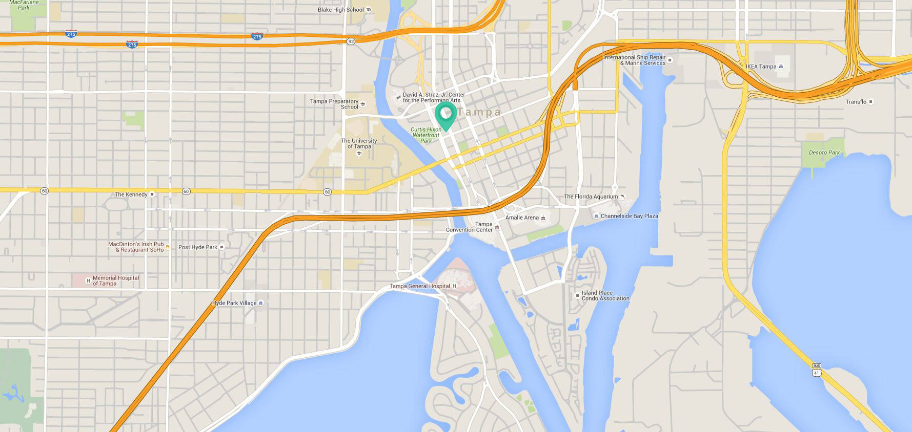 Map of tampa florida image